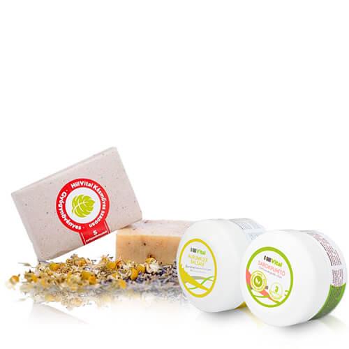 hillvital-prirodni-produkty-balicek-na-pokozku-chodidel-mydlo-lecive-bylinky-houbovy-balzam-krem-na-paty